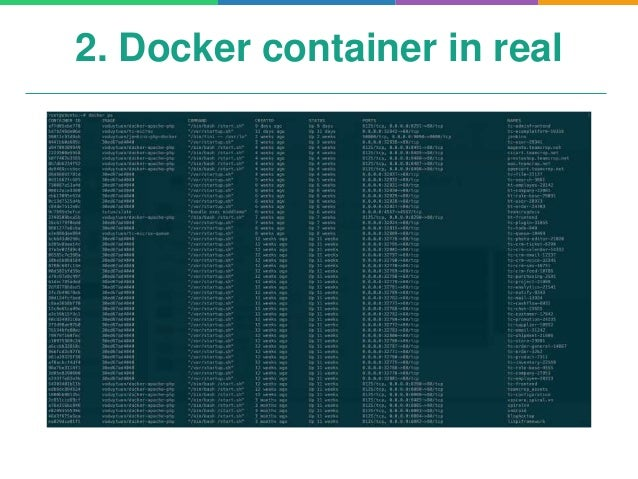 Microservices and docker