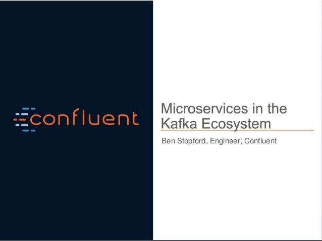 Ben Stopford, Engineer, Confluent