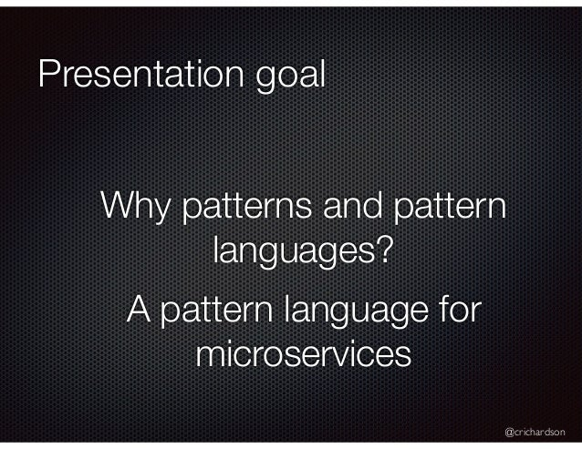 A Pattern Language for Microservices (@futurestack) Slide 2