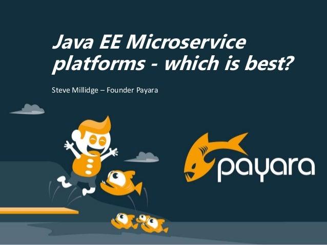 Java EE Microservice platforms - which is best? Steve Millidge – Founder Payara