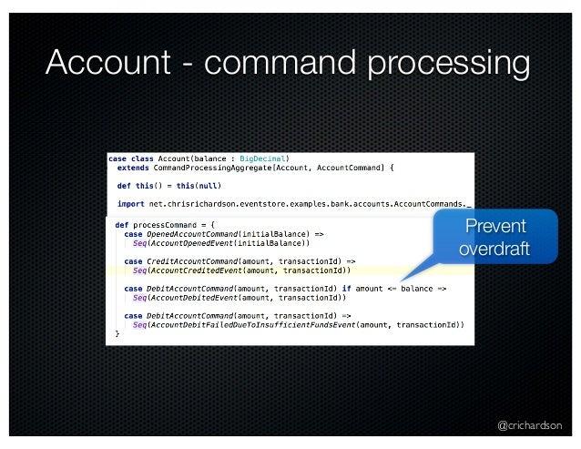 @crichardson Account - command processing Prevent overdraft