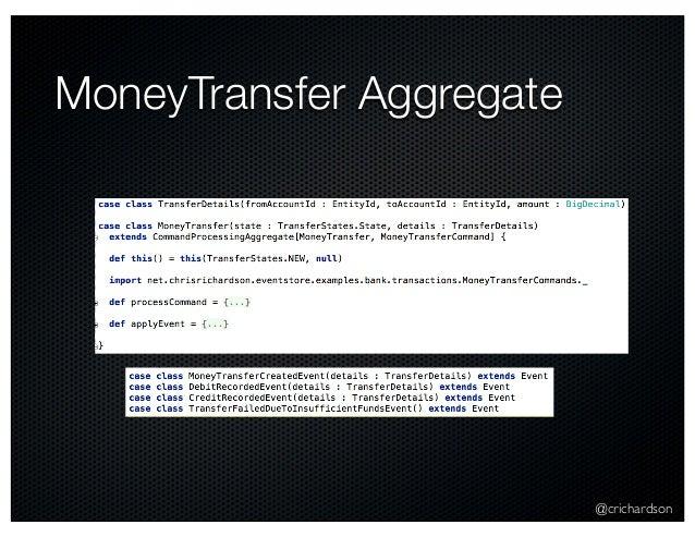 @crichardson MoneyTransfer Aggregate