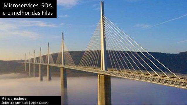 Microservices, SOA e o melhor das Filas @diego_pacheco Software Architect | Agile Coach