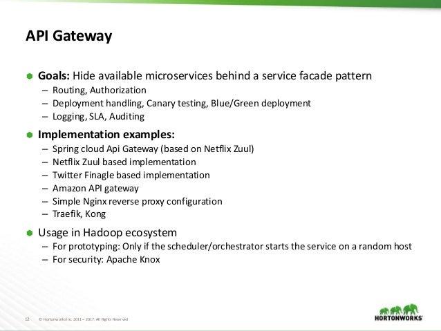 Micro services vs hadoop