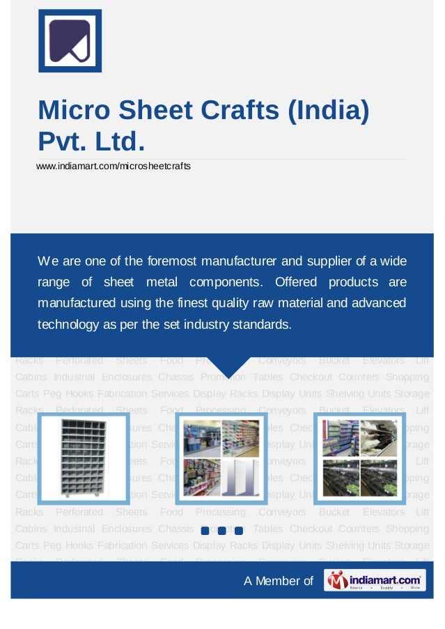 Micro Sheet Crafts (India)    Pvt. Ltd.    www.indiamart.com/microsheetcraftsDisplay Racks Display Units Shelving Units St...
