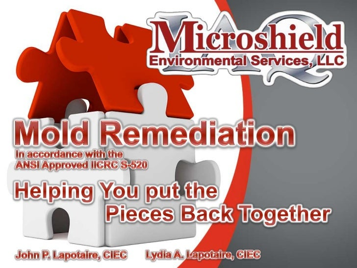 Mold Remediation<br />In accordance with the<br />ANSI Approved IICRC S-520<br />Helping You put the<br />Pieces Back Toge...