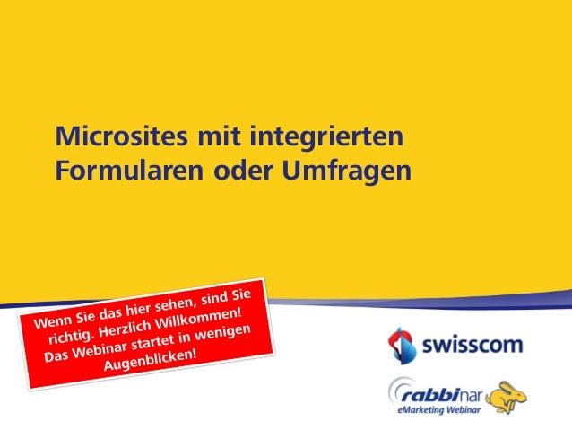 Microsites mit integriertenFormularen oder Umfragen