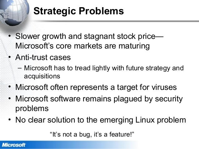 legal issues facing microsoft