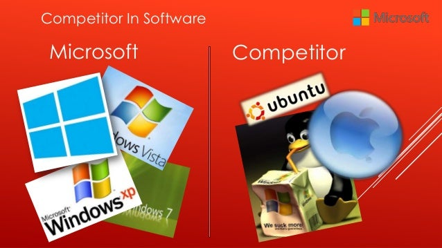 competitor of microsoft