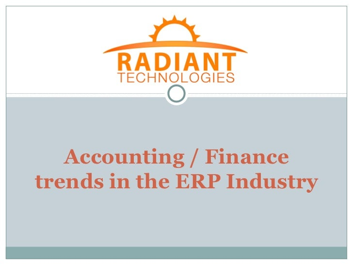 Accounting / Financetrends in the ERP Industry