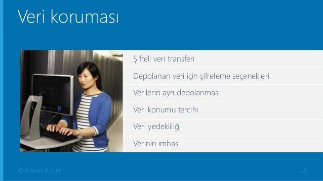 Windows Azure Şifreli veri transferi Depolanan veri için şifreleme seçenekleri Verilerin ayrı depolanması Veri konumu terc...