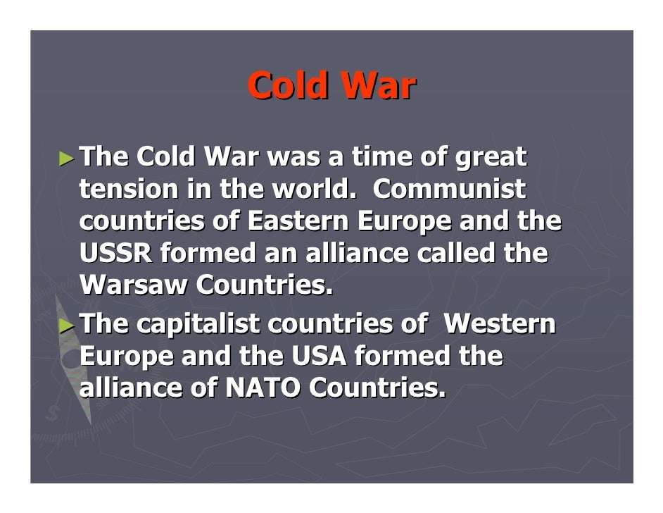 an analysis of the tension in the cold war between united states and ussr After the second world war, the usa and ussr became two super powers  cold war is a state of tension between countries in which each side adopts policies.