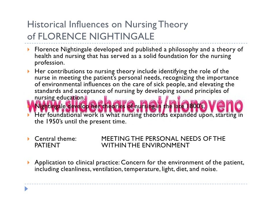 florence nightingale theory on nutrition and metabolism nursing theories 1 florence nightingale environmental nursing