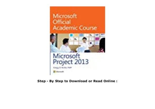 E Book Microsoft Project 2013 Pdf