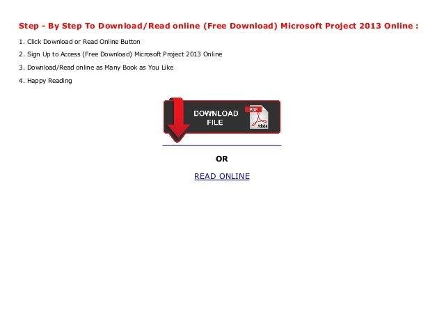 Free Download Microsoft Project 2013 Online
