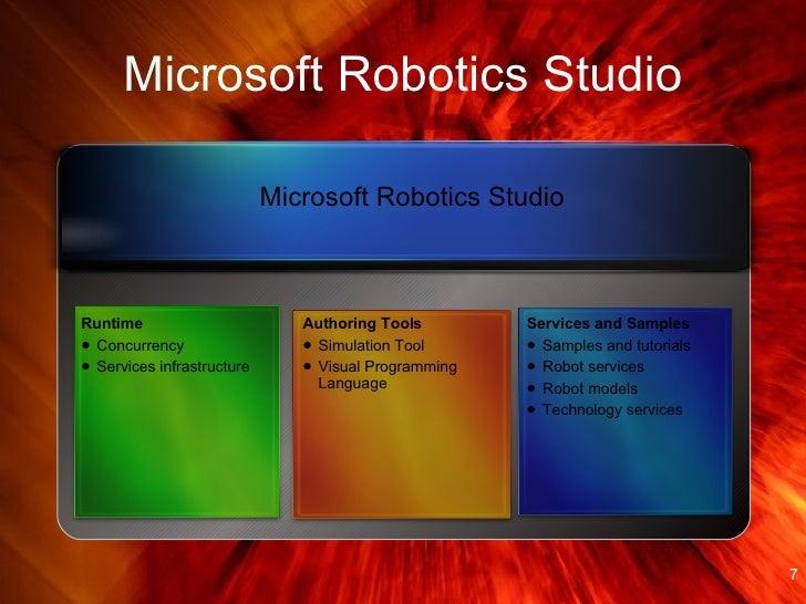 Microsoft Robotics Developer Studio Features