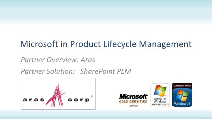 Microsoft in Product Lifecycle Management<br />Partner Overview: Aras<br />Partner Solution:   SharePoint PLM<br />1<br />