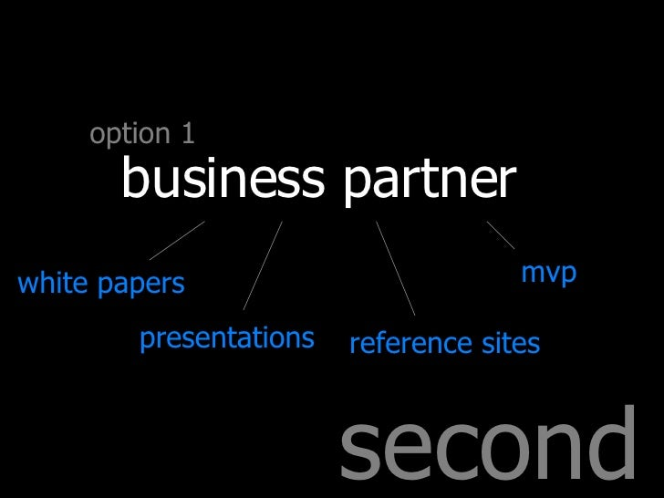 second option 1 business partner white papers presentations reference sites mvp