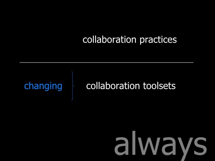 always collaboration practices collaboration toolsets changing