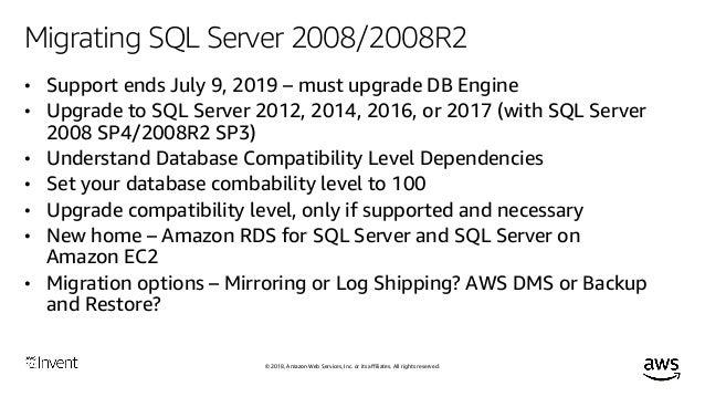 Microsoft SQL Server Migration Strategies (WIN302) - AWS re