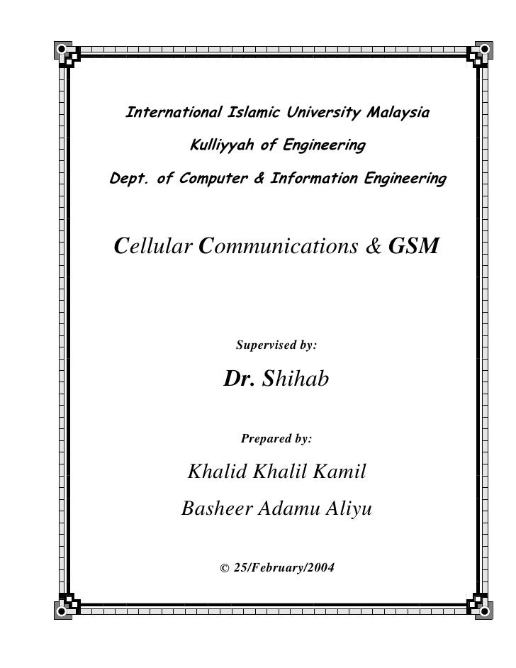 International Islamic University Malaysia            Kulliyyah of Engineering  Dept. of Computer & Information Engineering...