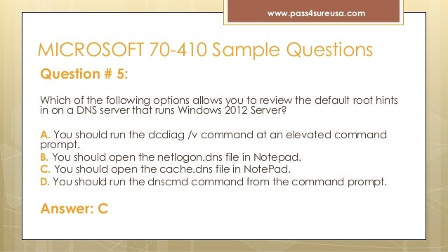 70 410 exam questions and answers pdf