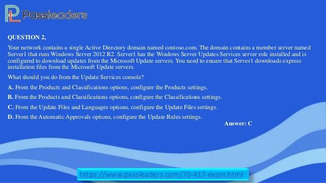 70-417 Exam Dumps-70-417 VCE Dumps-70-417 PDF-70-417 Passleaders