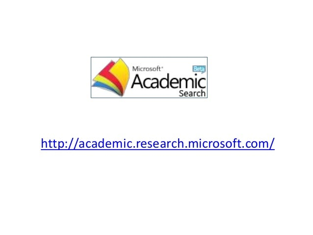 http://academic.research.microsoft.com/