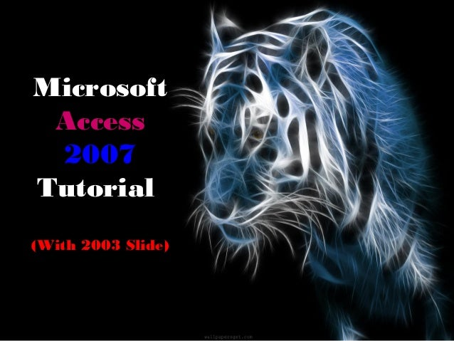 MicrosoftAccess2007Tutorial(With 2003 Slide)