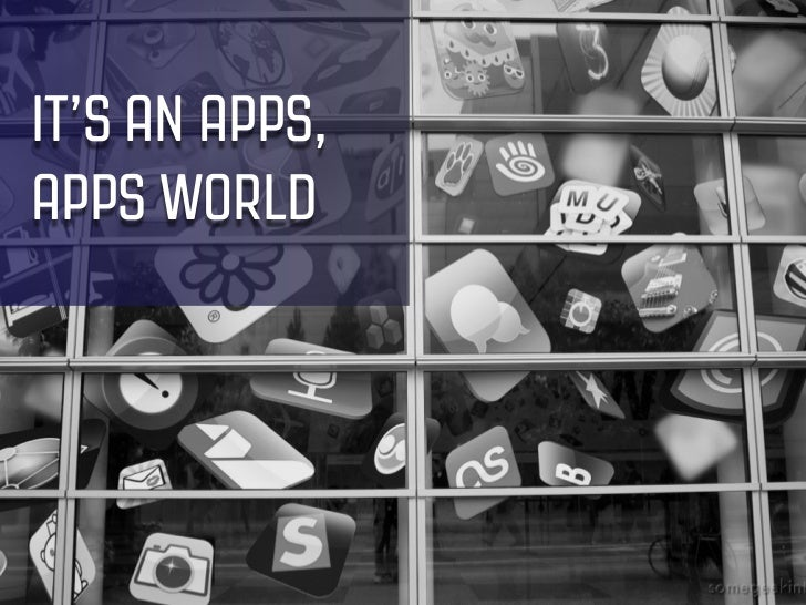 IT'S AN APPS,APPS WORLD