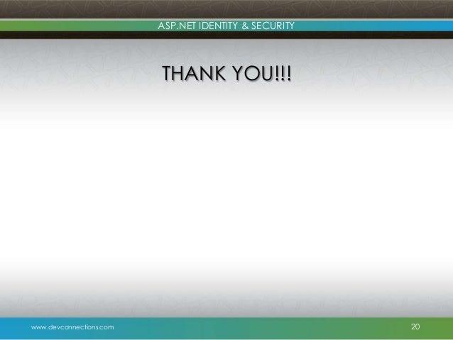Beginning ASP.NET Security [Book] - oreilly.com