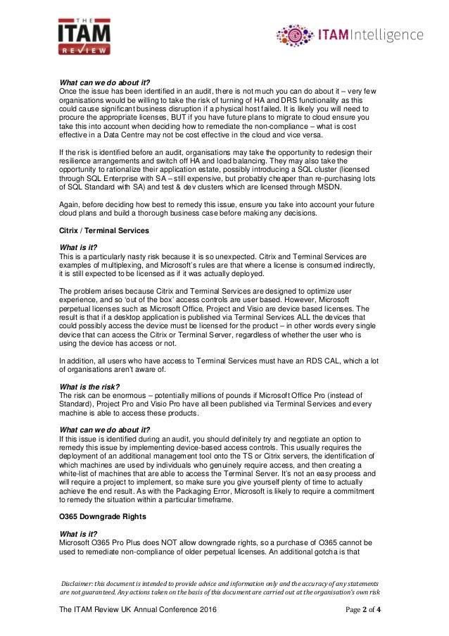microsoft license baseline self-assessment