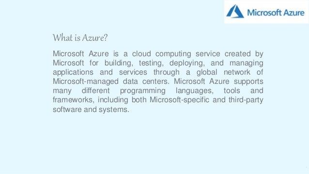 Microsoft Azure Slide 3