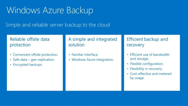 microsoft azure backup overview