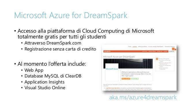 Microsoft Azure for DreamSpark • Accesso alla piattaforma di Cloud Computing di Microsoft totalmente gratis per tutti gli ...