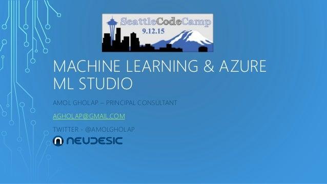 microsoft azure machine learning studio demo