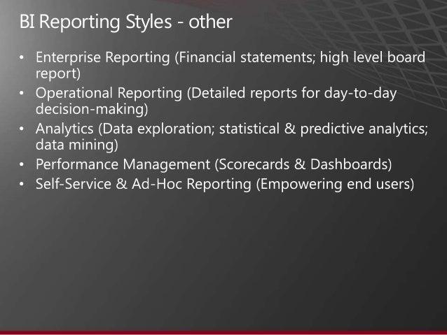 microsoft bi reporting tools