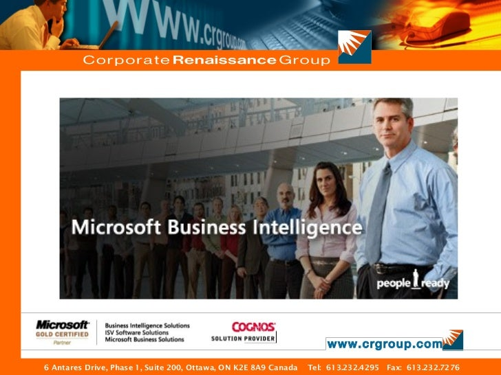 www.crgroup.com6 Antares Drive, Phase 1, Suite 200, Ottawa, ON K2E 8A9 Canada   Tel: 613.232.4295 Fax: 613.232.7276