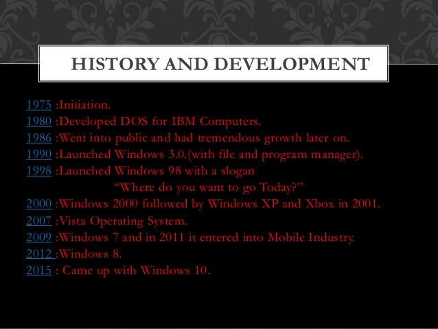 case study of windows operating system pdf