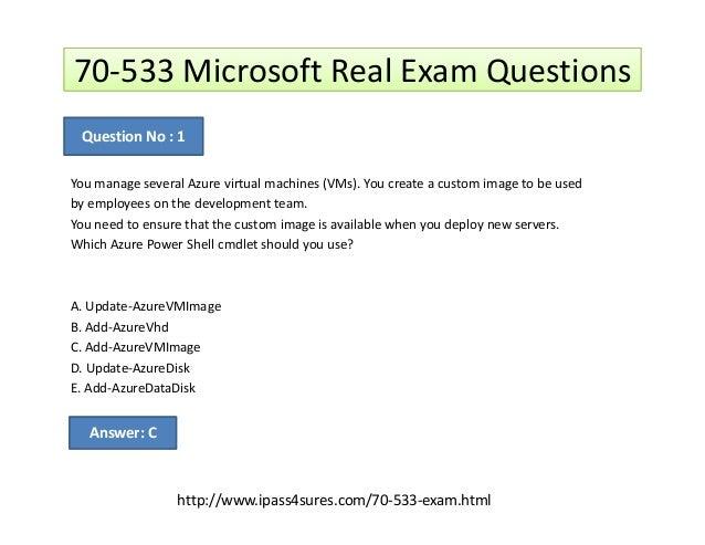 Microsoft Certification Exams 70 533