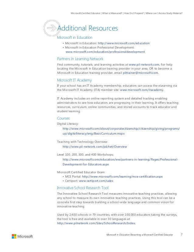 Microsoft Certified Educatorstudyguide