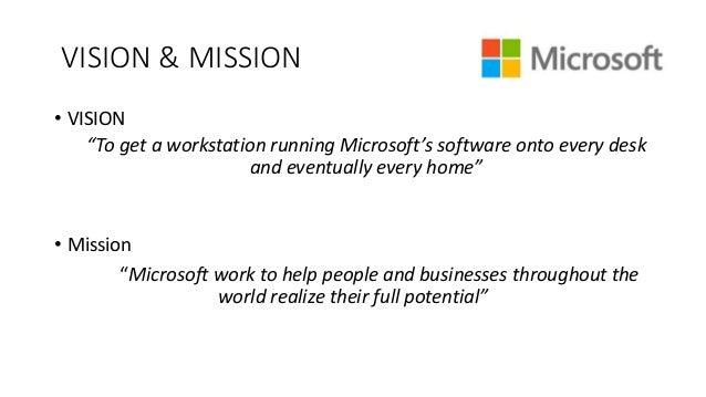 Microsoft company: visie en missie