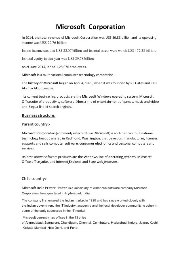 microsoft copration assignment 2 pdf