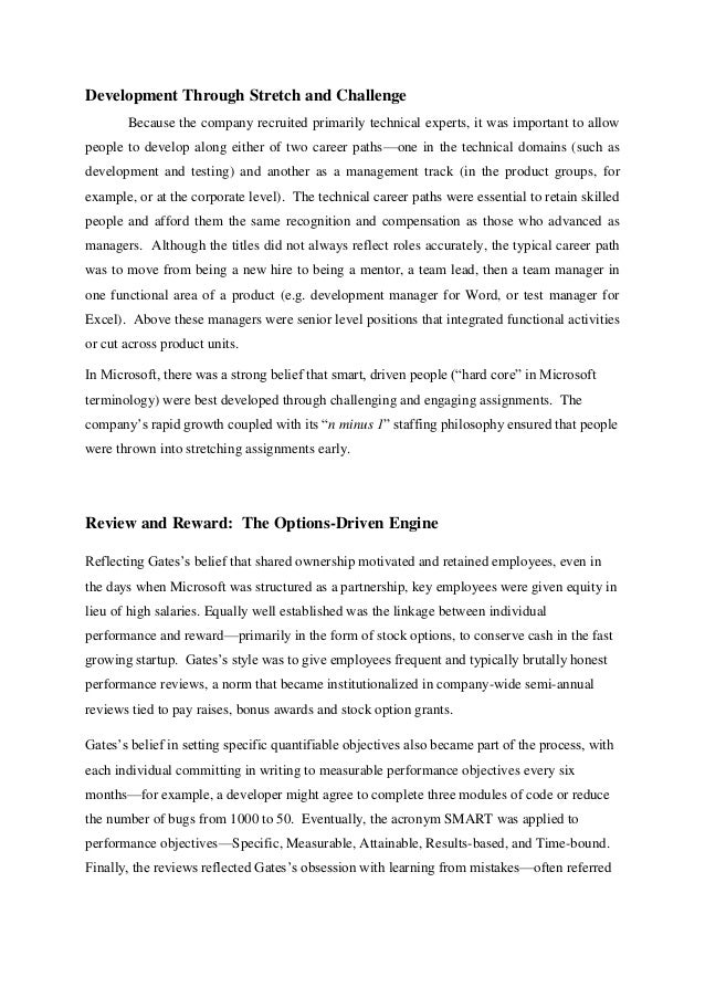 microsoft corporation case study analysis