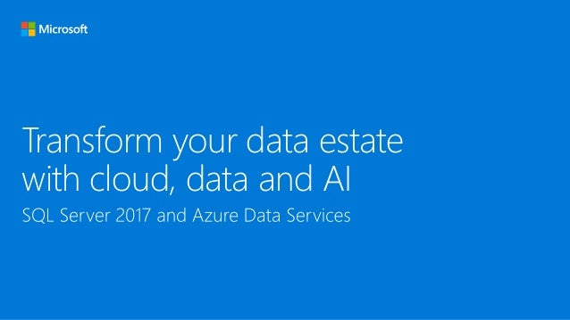Transform your data estate with cloud, data and AI