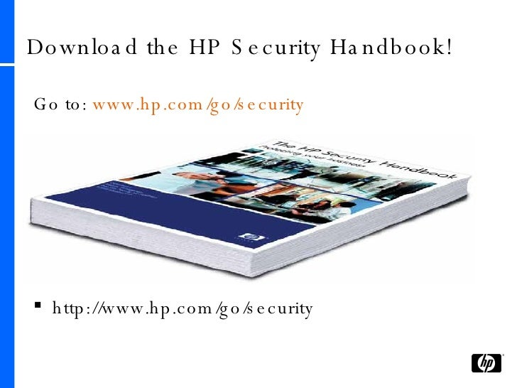 39 Download The HP Security Handbook