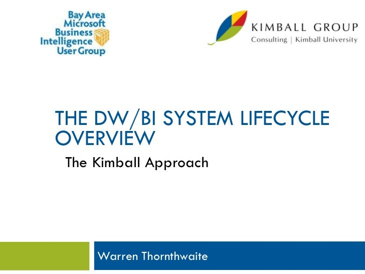 THE DW/BI SYSTEM LIFECYCLEOVERVIEW The Kimball Approach     Warren Thornthwaite