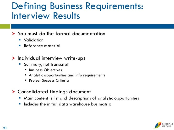 Microsoft data warehouse business intelligence lifecycle the kimbal technical sophistication20 21 defining business requirements interview flashek Gallery