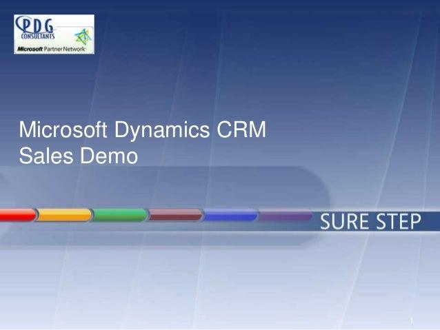 1 Microsoft Dynamics CRM Sales Demo