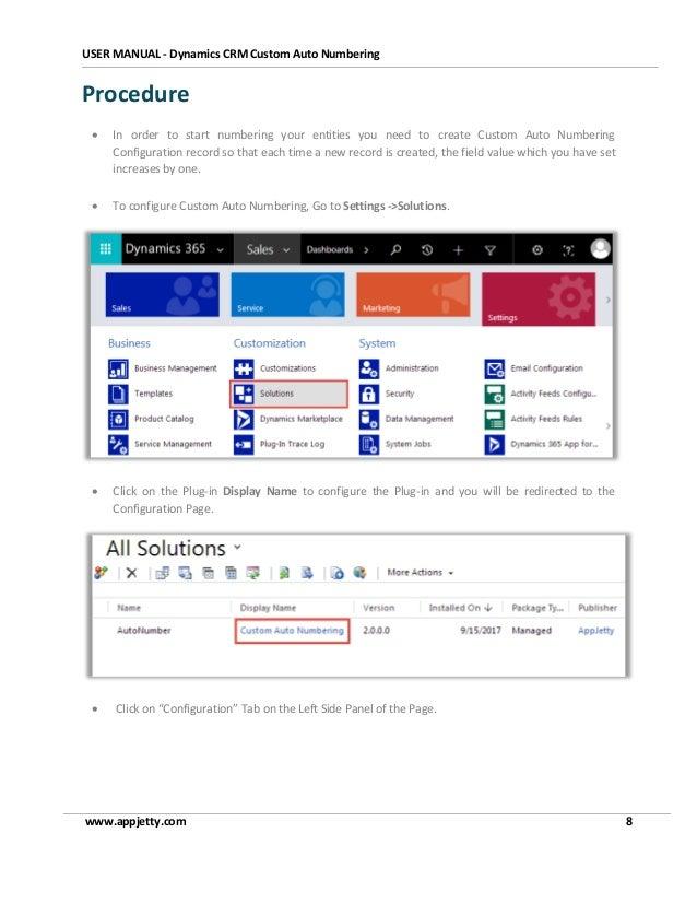 Microsoft Dynamics 365 Auto Numbering Plugin